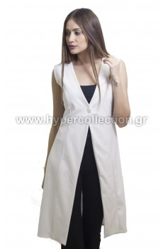Long Sleeveless Jacket